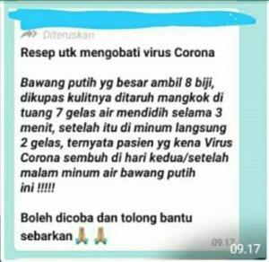 Resep Hoax Virus Corona