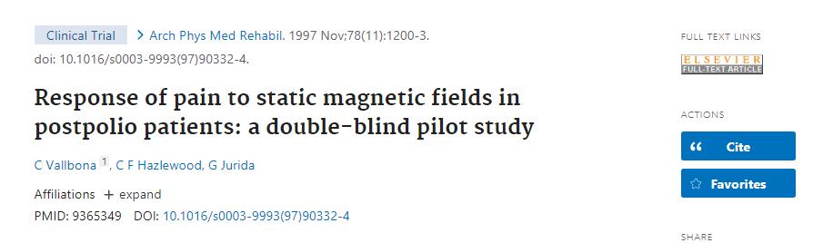 Penelitian Medan Magnet terhadap Nyeri